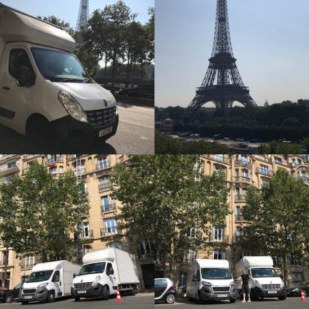 Man and Van - European moving services - London to Paris.