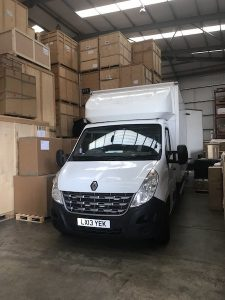 Van - Storage Facilities - Packing Items.