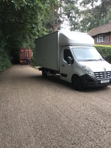 Van and truck in front of house- Home removals at your doorstep.
